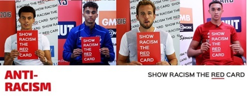 Show racism the red card   image