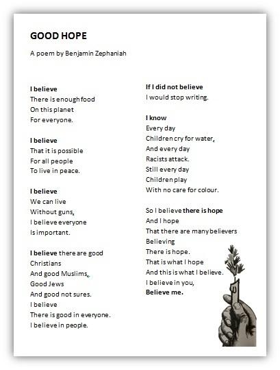 Good Hope poem