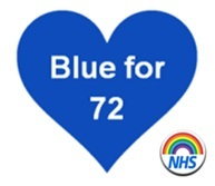 Blue for 72   T