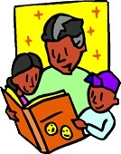 Reading together family