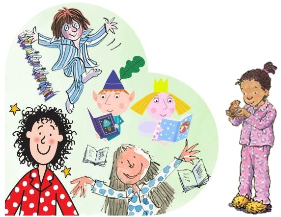 Book characters in PJs
