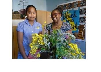 Bishop Wood's daughter visits St CD