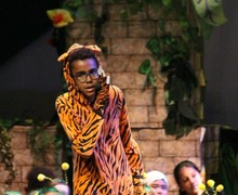 24. Shere Khan talking to audience