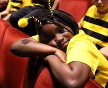 29. Resting bee