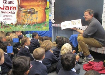 Reception's Storytime with Mr Bentham