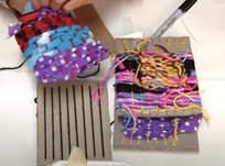 Weaving recycled materials